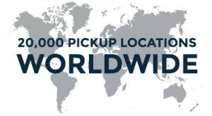 20,000 pickups locations worldwide