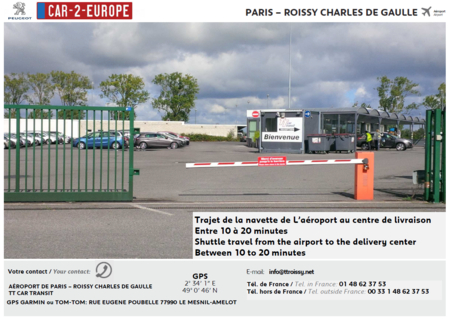 Paris Charles de Gaulle Airport Car Leasing Exterior