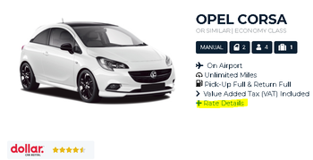 Dollar Car Rental Paris Rate Details With Auto Europe