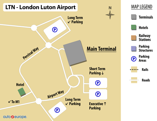 London Luton Airport Map