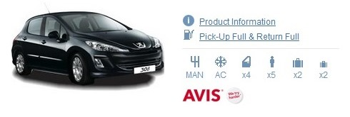 Avis England Car Rental Supplier