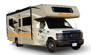 Britz Motorhome Rental Option in the USA