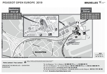 75b825599f Map to Pick-up your Car Lease at the Brussels Airport