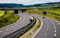 Section of the Autobahn in Germany