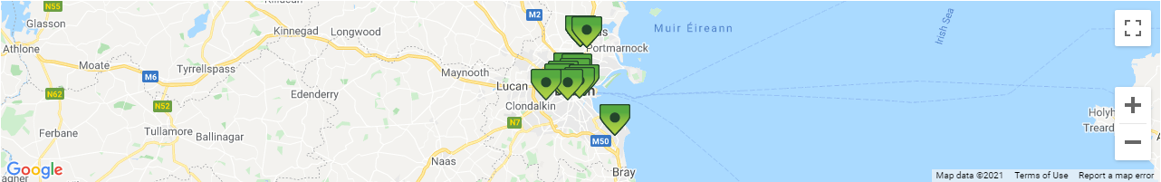 Dublin Car Rental Pick-up Location Map
