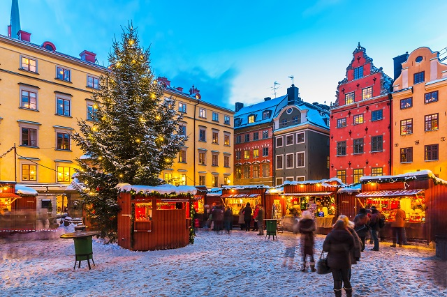 The Gamla Stan Market at Christmas