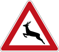 German Road Sign: Wild Animals Crossing