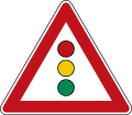 German Road Sign: Traffic Signal Ahead