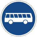 German Road Sign: Bus Lane