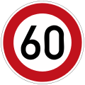 German Road Sign: Speed Limit