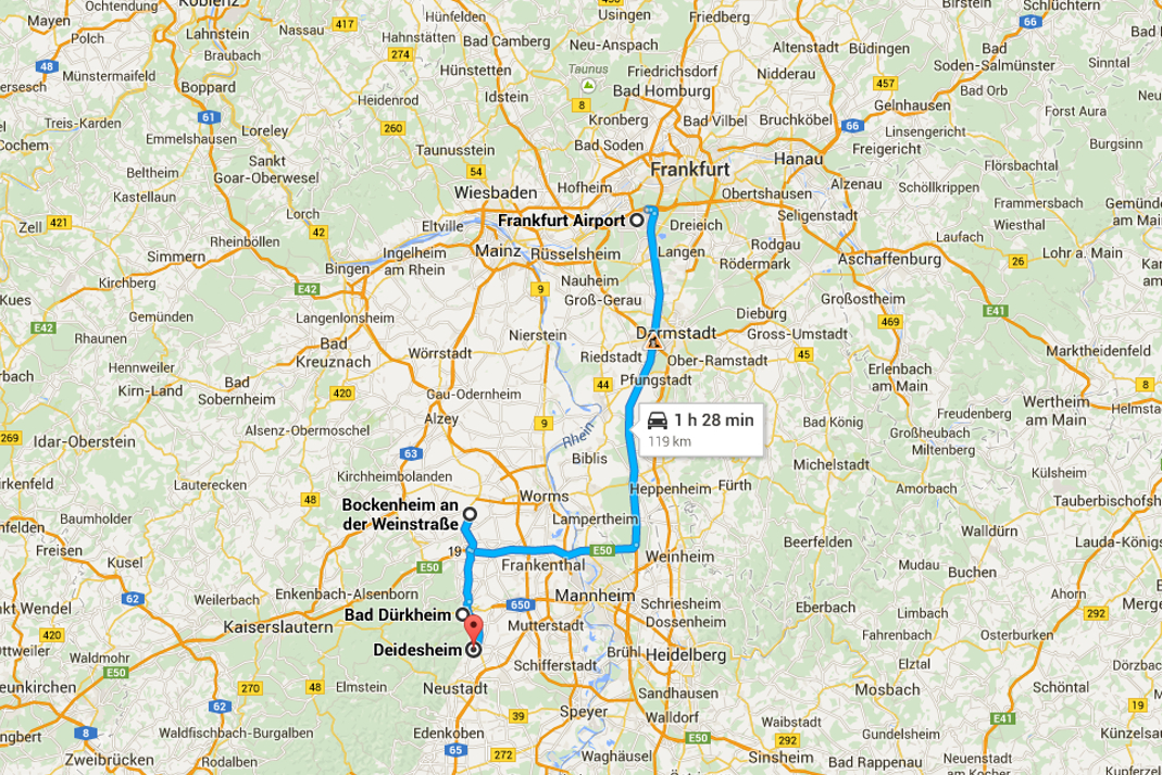 German Wine Road Tours Of Germany Wine Route Itinerary - Germany vineyards map