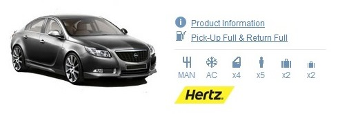 Hertz England Car Rental Supplier