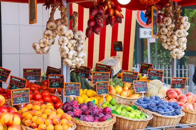 Fresh and Local Produce in Italy