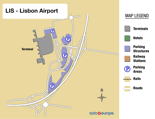 Car Rental Lisbon Airport Car Rental LIS Save Up To - Portugal map with airports