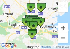 London Car Rental Locations Map