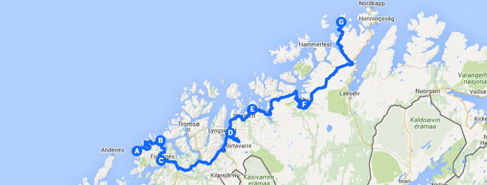 Northern Lights Tour Of Norway Day Road Trip Auto Europe - Norway map northern lights