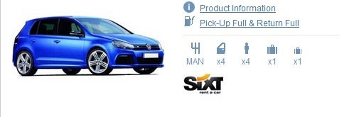 Sixt Dublin Car Rental Supplier