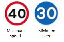 UK Speed Limit Signs