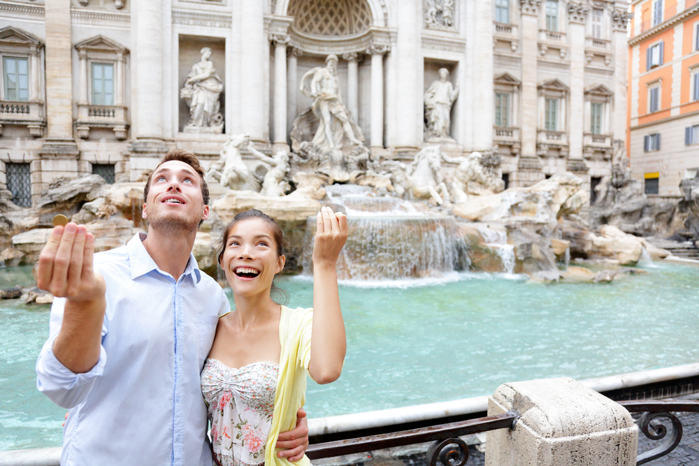 Things to Do in Rome: Toss a Coin Into Trevi Fountain