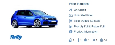 Thrifty Car Rental in Amsterdam