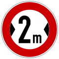 German Road Sign: Width Limit