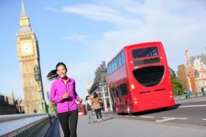 Jogging in London England
