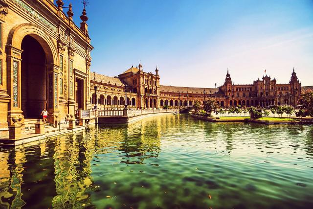(Plaza de Espana) in Sevilla, Spain