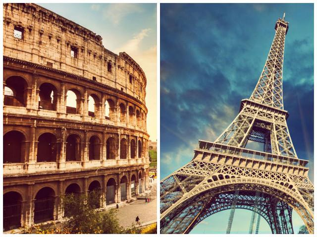 Rome or Paris? Paris or Rome? Where to travel this summer.