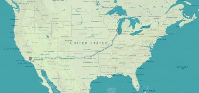 Map Of America Showing Route 66.Drive Route 66 Road Trip Planner Guide Auto Europe
