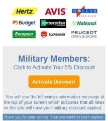 How to Use the Auto Europe Military Discount