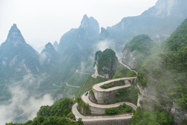 Tianmen Mountain Road China