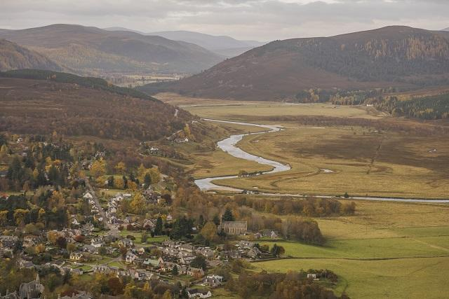 The village of Braemar, UK