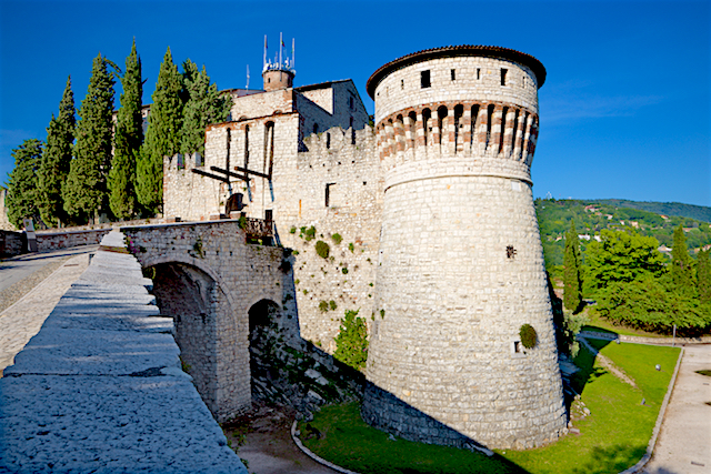 Castle of Brescia, Italy
